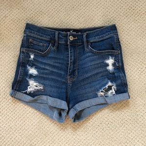 Hollister High-Rise Advanced Stretch Denim Shorts